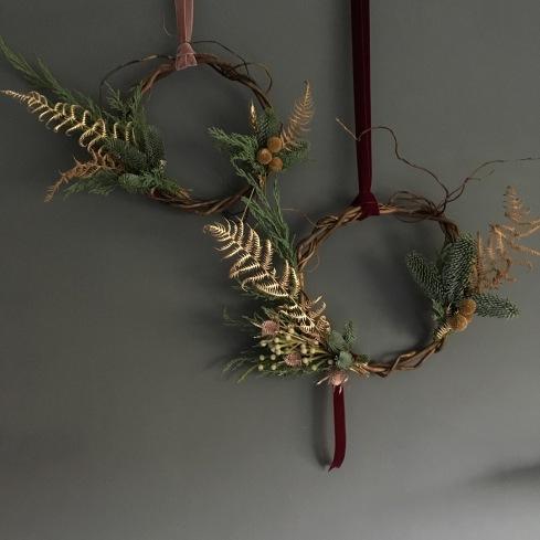 two indoor wreaths